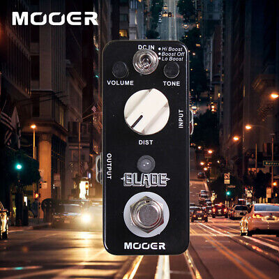 MOOER BLADE Metal Distortion Guitar Effect Pedal Lo Boost/ Boost Off/ Hi Boost
