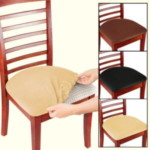 2/4/6 Pcs Removable Elastic Stretch Slipcovers Dining Spandex Chair Seat Cover