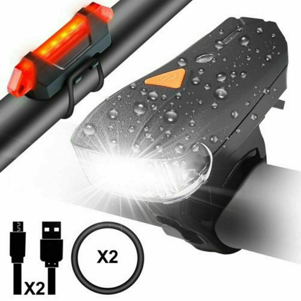 USB LED Fahrradbeleuchtung Fahrrad Licht Fahrad Scheinwerfer Fahrradlampe Sport