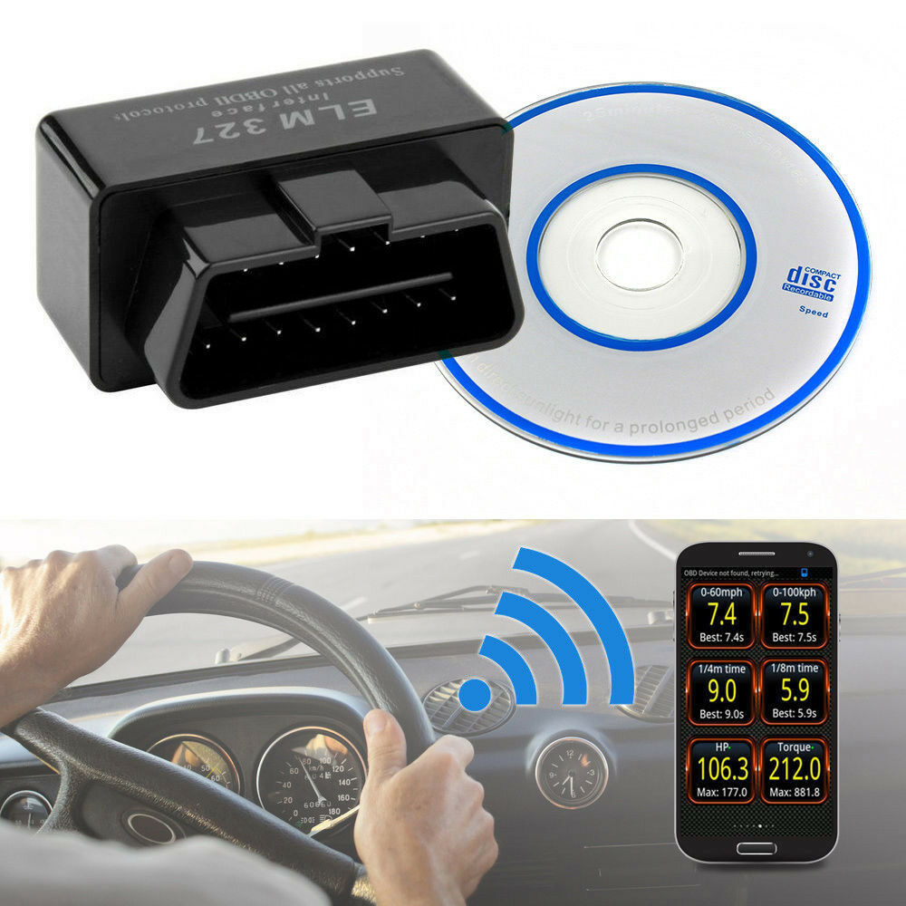 Mini ELM327 Bluetooth Interface Auto Scanner Diagnosegerät OBD2 V2.1 Android PC