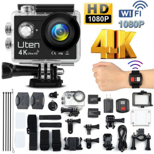 Wasserdicht 16MP Aktion Kamera Ultra Full HD 4K Wifi Sport Kamera Camcorder DE