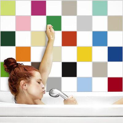 Fliesenaufkleber Fliesenfolie Fliesensticker Küche Bad 15x15cm glänzende Farben