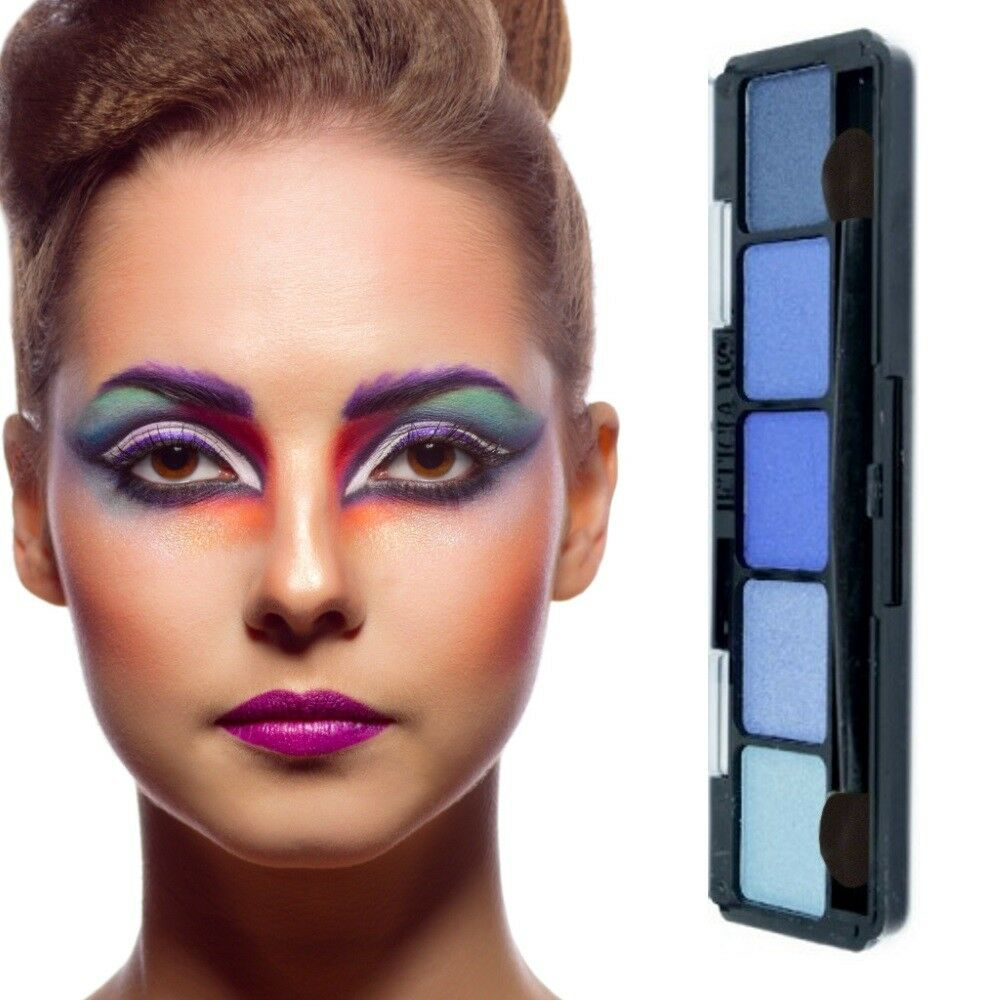 Lidschatten Palette 5 Farben-Make Up-Eyeshadow-Highlighter -Kosmetik Blau Nr.1