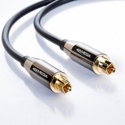 3m Toslink Premium HQ von JAMEGA | Optisches Audiokabel LWL SPDIF Digital