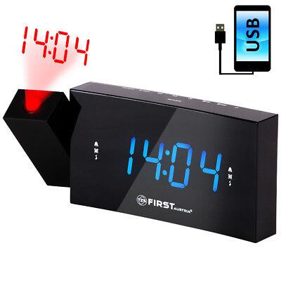 Radiowecker mit Projektion, LED Display dimmbar oder aus Radio Wecker Uhrenradio