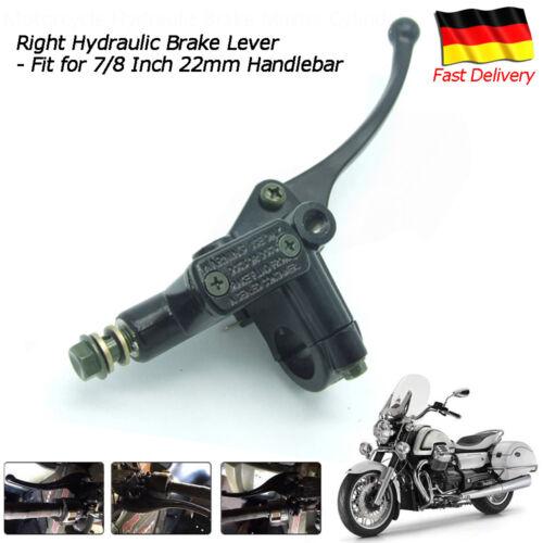7/8'' 22mm Lenker Motorrad Bremshebel Universal Rechts Hydraulik Bremszylinder