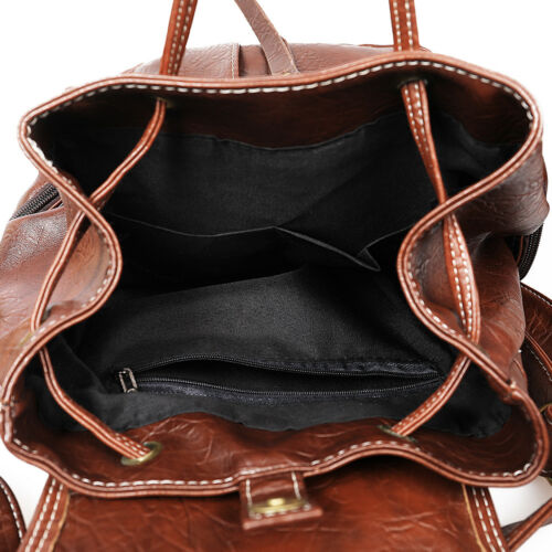 Vintage Womens Leather Backpack Shoulder School Shoulder Satchel HandBag Travel 4