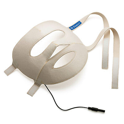 Saalio® Iontophorese Elektrode Gesichtselektrode Gesichtsmaske mit Graphitfasern