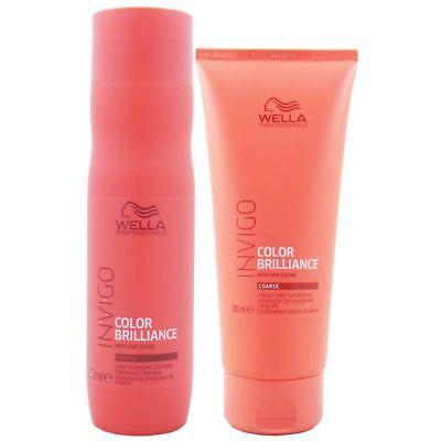 Wella INVIGO Brilliance Shampoo 250 ml & Conditioner 200 ml coarse Set