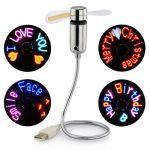 USB Fan LED RGB Programmable Fan For PC Laptops Notebooks Desktop Mini Portable