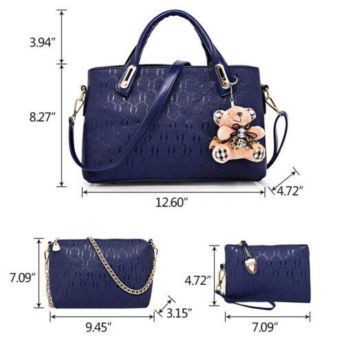 5Pcs/Set Women Lady Leather Handbags Messenger Shoulder Bags Tote Satchel Purse 3