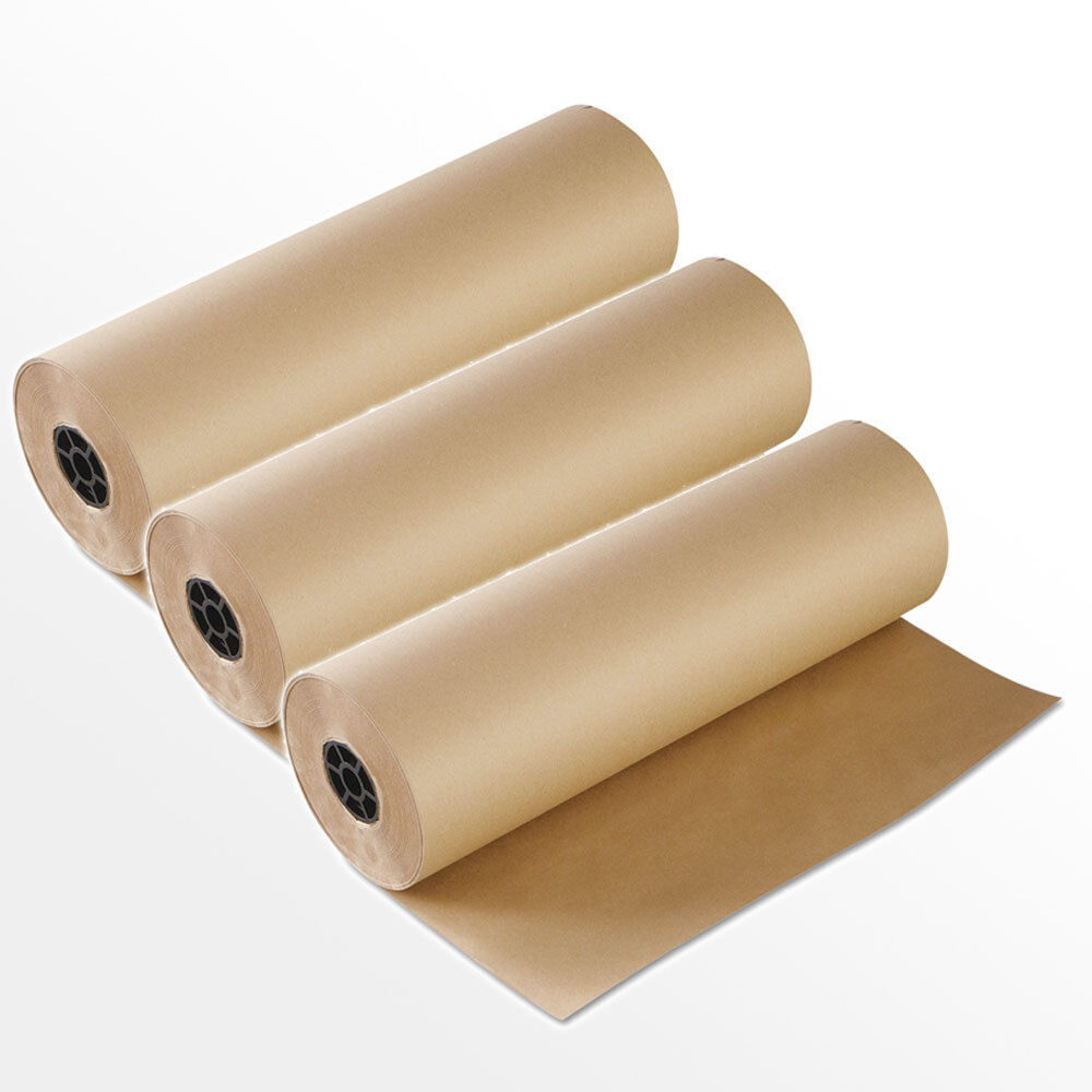3 Rollen 50 cm breit x 250 lfm Schrenzpapier Packpapier  80g/m² 1 Rolle = 10kg