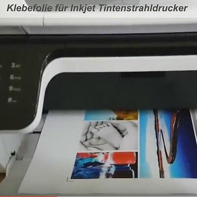 10 Stück - Bedruckbare weiße Klebefolie für Inkjet Tintenstrahldrucker - DIN A4