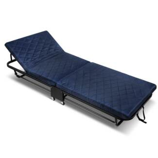 Foldable Adjule Guest Folding Bed With Mattress Single