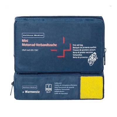 Mini COMBI Motorrad Verbandtasche Erste-Hilfe-Tasche, DIN13167 u. Warnweste