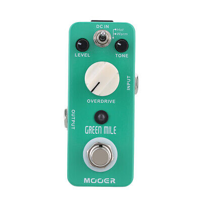 MOD1 Mooer Green Mile Micro Overdrive Electric Guitar Effect Pedal True Bypass