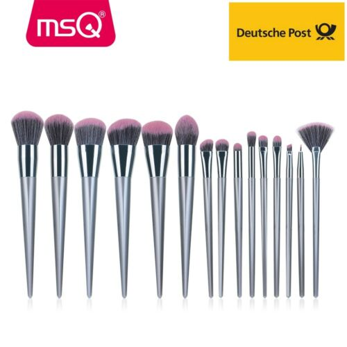 MSQ 15tlg Make up Kosmetik Pinsel Makeup Brush Schminkpinsel Set Gesichtspinsel