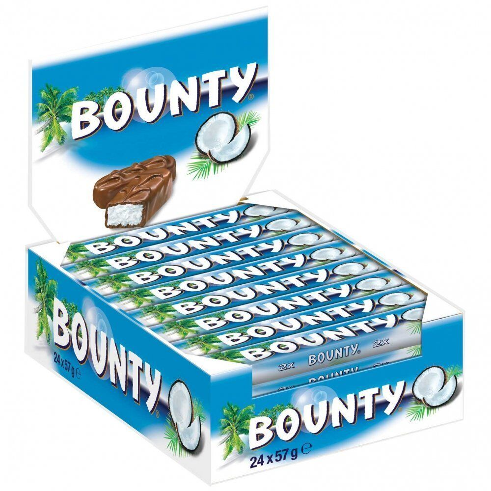 (1000g=7,81€) Bounty - Schokoriegel Kokos Schokolade - 24 Riegel