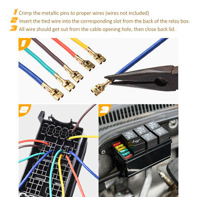 MICTUNING 12Slot Relay Box 6 Relays 6 ATCATO Fuses Holder Block Automotive 692619960587   eBay