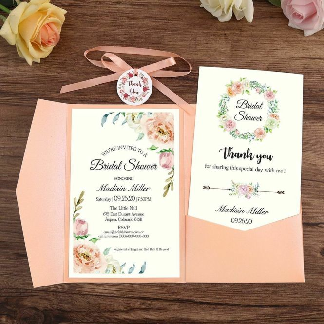 Wedding Invitation Card With Envelope