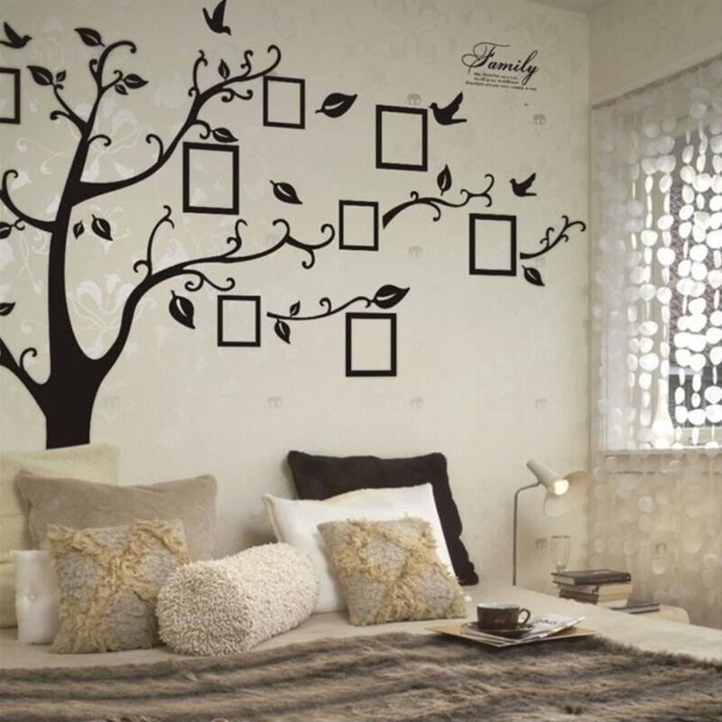 XXL Wandtattoo Mit 8 VOGEL Stammbaum, Familie liebe,Bilderrahmen 250 x 180cm