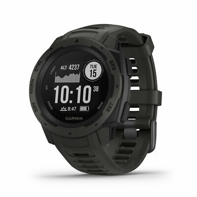 Garmin Instinct Rugged GPS Smart Fitness Watch Graphite Black Gray 010-02064-00
