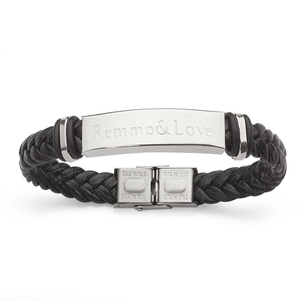 Partner Damen Herren Leder Armband mit Gravur Geburtstag Valentinstag Geschenk