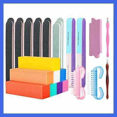 Professional Nail File & Buffers Tool Set For Natural Gel Acrylic Nails Care Buf