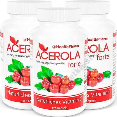 60000-180000 mg !!! ORIGINAL !!! ACEROLA FORTE EXTRAKT natürliches TOP Vitamin C