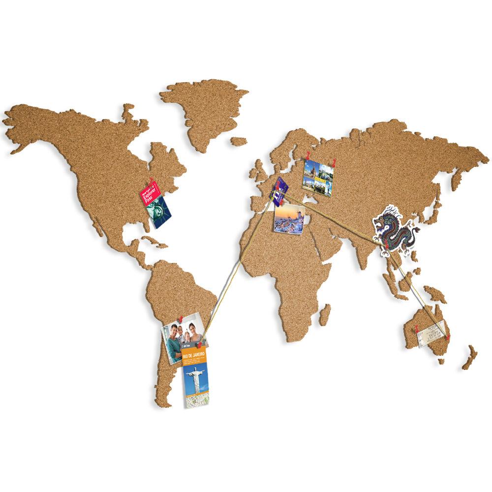 Weltkarte Pinnwand Kork Landkarte Korktafel xxl Memoboard selbstklebend Korkwand