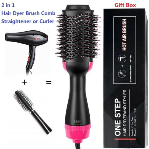 2 IN 1 MULTIFUNCTIONAL HAIR DRYER & VOLUMIZER HAIR BRUSH ROLLER COMB