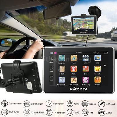 4.3 inch TFT-LCD GPS Navigationsgerät Auto Motorrad Navigation 8GB DE