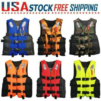 Adult Fishing Life Jacket Kayak Boating Swimming Aid Water Sports Floating Vest