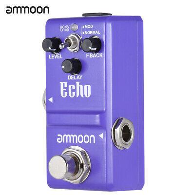 ammoon LN-314 Guitar Effect Pedal Echo Delay True Bypass Alloy R2X6