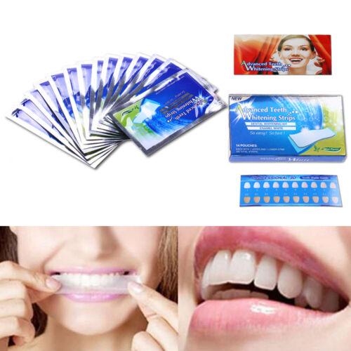 28 Profi Zahnweiß Whitestrips Bleaching Zahnaufhellung Streife für Weiße Zähne
