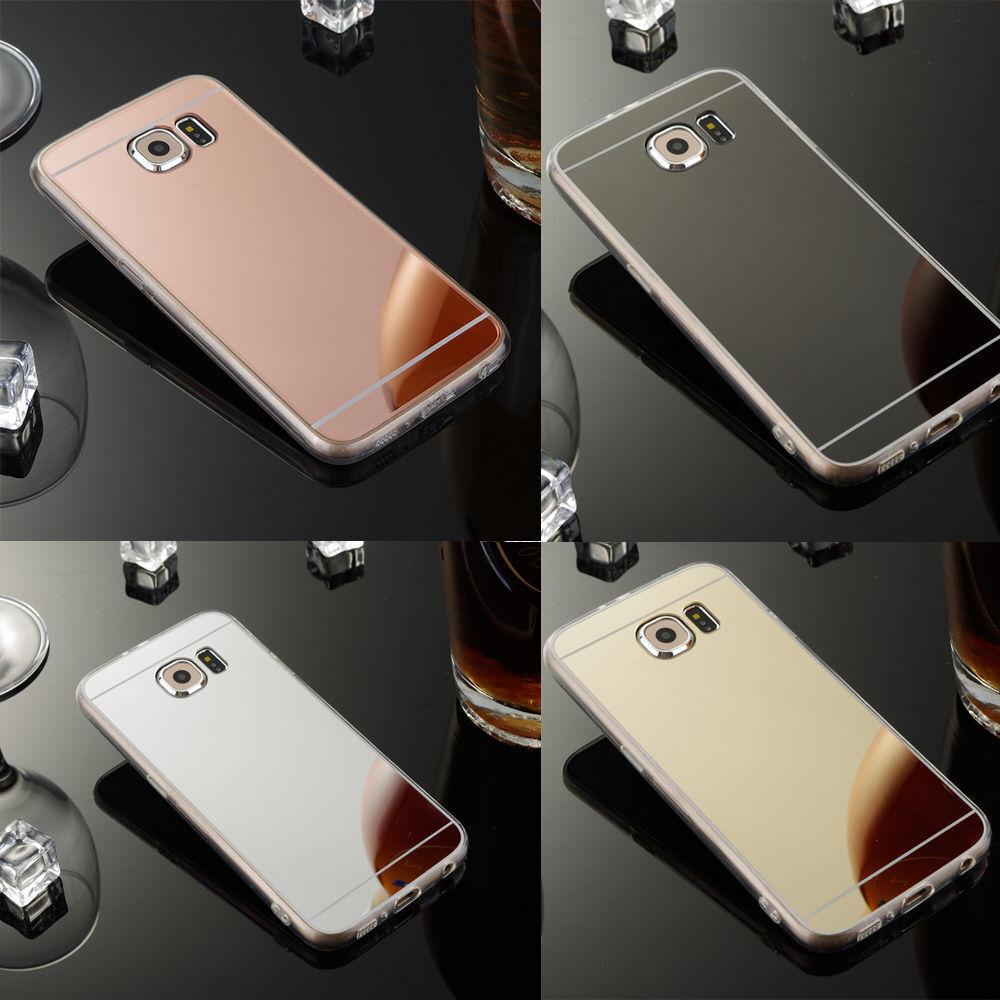 Samsung Galaxy S7 Edge Handy Hülle Spiegel Case Schutz  Ultraslim Tpu Silikon