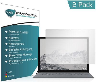 "Slabo Displayschutzfolie Microsoft Surface Laptop (2er Set) KLAR ""Crystal Clear"""