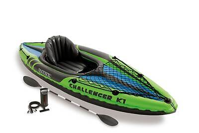 Intex 68305EP Challenger K1 Inflatable Kayak with Oar and Hand (1 Person Kayak)
