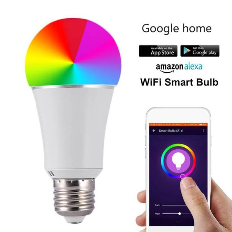 WiFi Smart LED Light Bulbs Remote Control RGBW Lamp for Amazon Alexa Google Home
