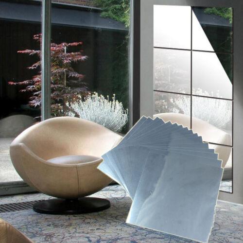 32 Stk. Spiegelfliesen Spiegelkacheln Wandspiegel Klebespiegel Deko Tischspiegel
