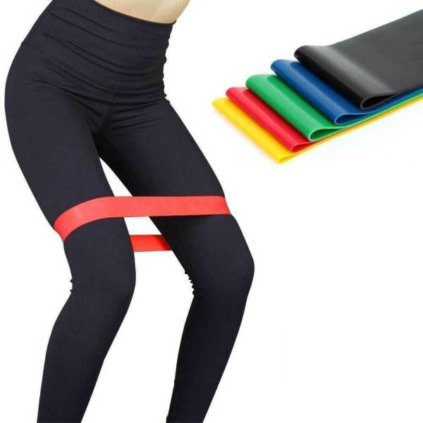 Resistance Bands Loop Set 5 Legs Exercise Workout CrossFit Fitness Yoga Booty 8