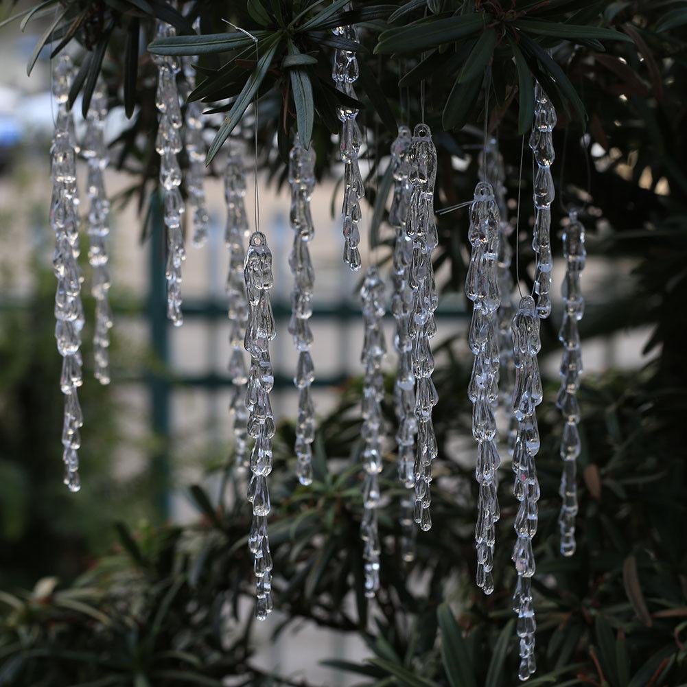 weihnachtsdeko eiszapfen acryl weihnachtenbaum anhänger christbaumschmuck
