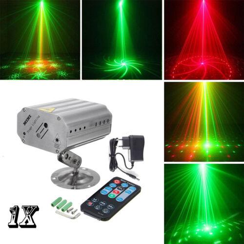 Mini Laser LED Projektor DJ Licht Party Disco Beleuchtung Laserprojektoren R&G