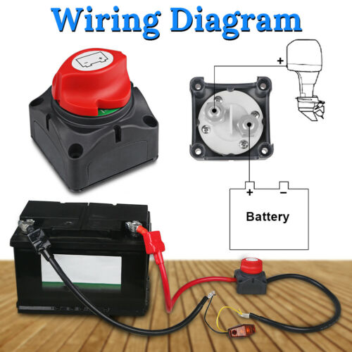 12v battery disconnect master cutoff rotary switch for