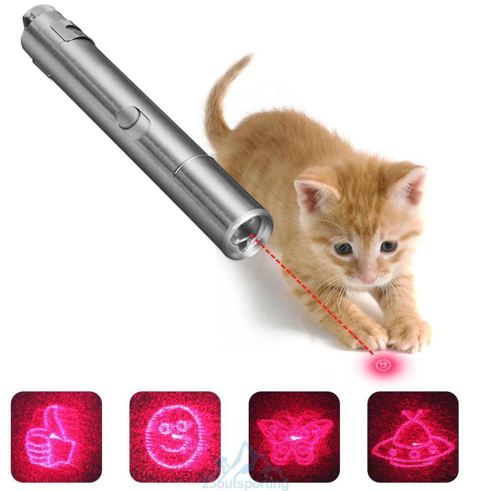 Laserpointer LED Licht Katze Spielzeug Training USB Wiederaufladbar Multi-Muster