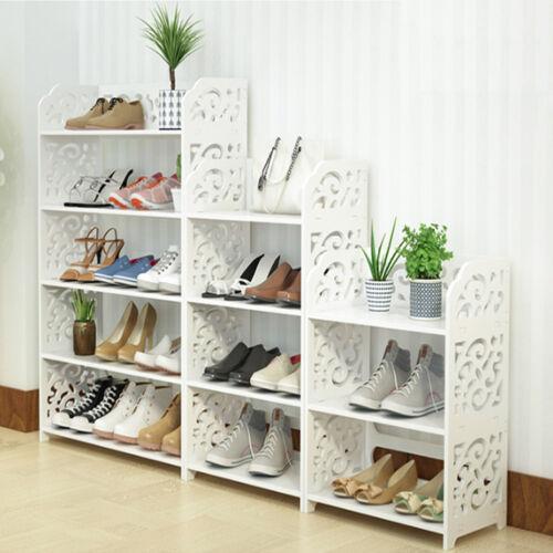 3/4/5 Schicht Schuhschrank Schuhregal Schuhablage Ständer Regal Barock-Stil Weiß