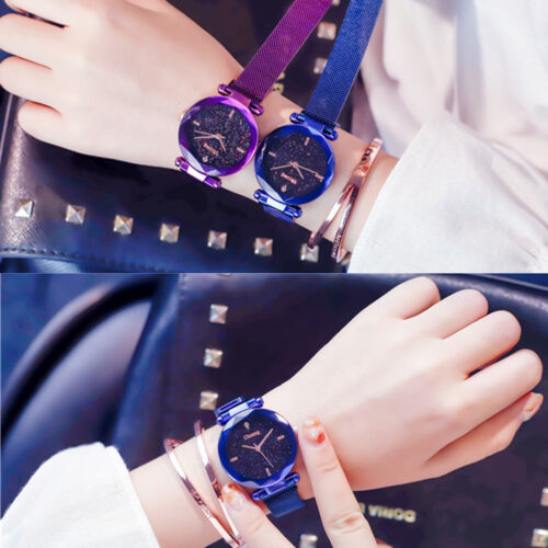 Luxury Starry Sky Masonry Watch Magnet Strap Buckle Stainless Watch Women Gift  2