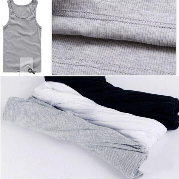 New Men's A-shirt Tank Top Undershirt ribbed 100% Cotton 2