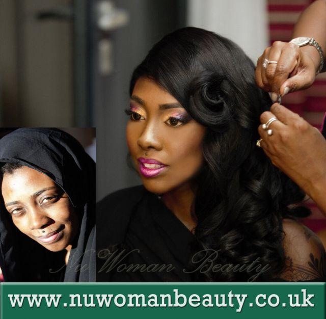 bridal makeup artist for black african, caribbean, arab skin
