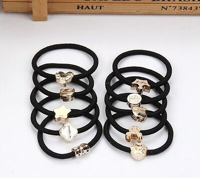 1 Pc Girl Black Elastic Hair Rubber Band Rope Scrunchie Ponytail Holder HOT